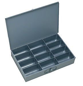 4 Large Metal 12 Compartment Hole Storage Tray s For Nuts Bolts