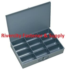 6 Metal 12 Compartment Hole Storage Tray s For Nuts Bolts Washers 211