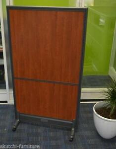 65 h Laminate Rolling Privacy Panel Mobile Office Partition Office Divider