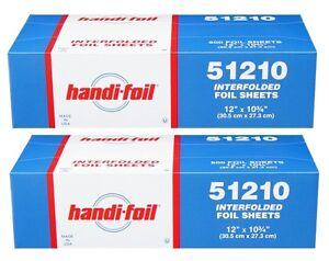 Handi foil Premium 12 x10 75 Interfolded Aluminum Foil Pop up Sheets 2 X 500 pk