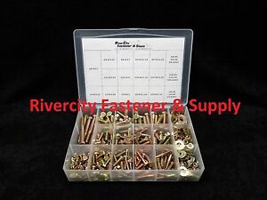 Grade 8 Bolt Nut And Washer Assortment Kit 334 Pieces Coarse Thread