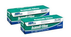 Handi film 18 x2000 Plastic Food Service Film Cling Wrap 2 Rolls Hfa 21805