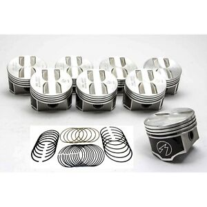 Speed Pro trw Chevy 327 Forged Flat Top Coated Pistons moly Rings Set kit 030