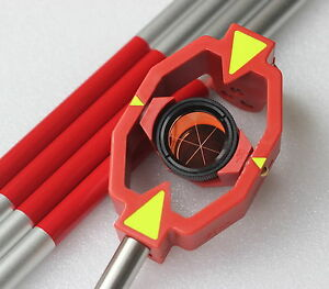 New Mini Prism With 4 Poles For Leica Total Stations Prism Constant 30 0mm
