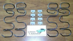 Seat Side Bottom Support Springs 12pc W Clips 67 69 Camaro Firebird In Stock