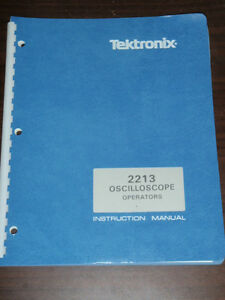 Tektronix Operators Instruction Manual For 2213 Oscilloscope
