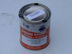 1952 1953 52 53 Ford Flathead Engine Paint Orange