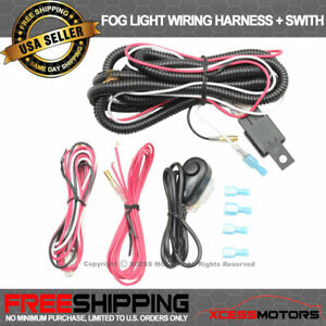 Fits Universal Fog Lamps Wiring Harness Kit 12v Led Wok Light Hid Bar Switch