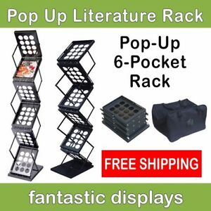 Pop Up Literature Display Stand Or Brochure Rack For Magazines Catalogs Etc