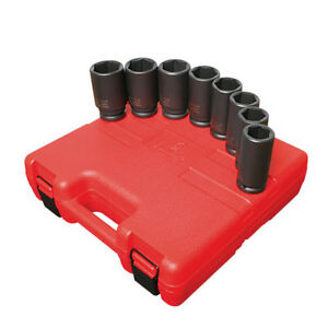 Sunex Tools 3 4 Drive 8 Piece Sae Deep Impact Socket Set 4681