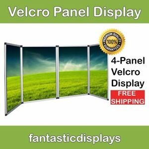 4 Panel Table Top Trade Show Display Velcro Exhibitor Presentation Board