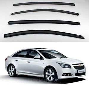New Smoke Window Vent Visors Rain Guards For Chevrolet Cruze 4door 2011 2012