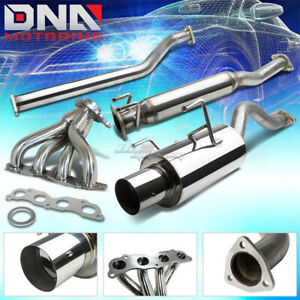 02 06 Acura Rsx Dc5 Non s 4 Tip Muffler Catback cat Back header Exhaust System