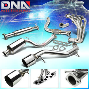 00 04 Ford Focus 4 5 Tip Muffler Catback Cat Back Downpipe Header Exhaust System