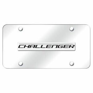 Dodge Challenger Chrome Stainless Steel License Plate