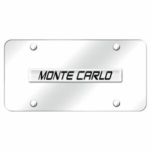 Chevrolet Monte Carlo Chrome Stainless Steel License Plate
