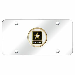Usa Army Chrome Stainless Steel License Plate