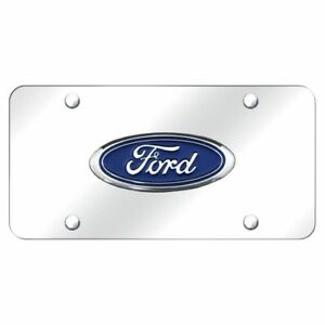 Ford Chrome Stainless Steel License Plate