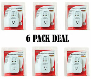 6 Pcs Voltage Protector Brownout Surge Refrigerator 1800 Watts Appliance New