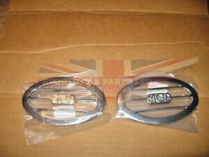 Pair Of New Mga Vent Grilles 1955 1962 Chromed Metal Vent Grille Set