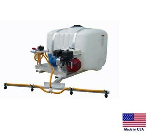 De icer Sprayer Commercial Skid Mounted 100 Gallon Tank 6 Ft Boom