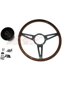 New 15 Laminated Riveted Wood Steering Wheel And Adaptor For Mgb 1963 1967