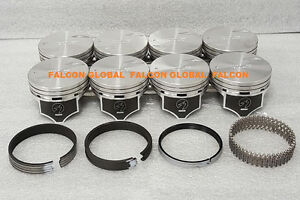 Chevy 7 4l 454ci Sealed Power Hypereutectic Pistons Moly Rings 1996 2000 Std