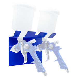 Portable Magnetic Paint Gun Holder Holds Two Gravidty Feed Spray Guns 8056