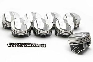 Chevy 7 4 454 Speed Pro Hypereutectic Coated Skirt 22cc Dome Pistons Set 8 060