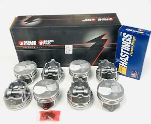 Chevy 7 4 454 Speed Pro Hypereutectic 30cc Dome Pistons Moly Rings Set Kit 060