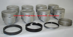 Ford 360 390 Fe Speed Pro Hypereutectic Flat Top Pistons moly Rings Kit 030