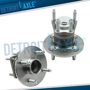 Both 2 Rear Complete Wheel Hub And Bearing Assembly Chevy Cobalt No Abs 4 Lug