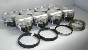 Speed Pro Chevy 350 Hypereutectic Flat Top 2vr Pistons Moly Rings 9 7 1 040