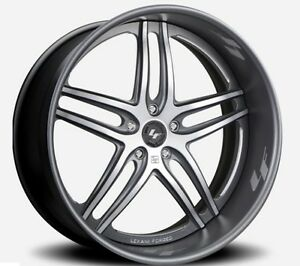 22 Inch Lexani Forged Lt 105 Wheels Ford Mustang