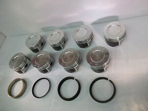 Speed Pro Oldsmobile Olds 350 Forged Coated Pistons Moly Rings Kit 10 25 1 30