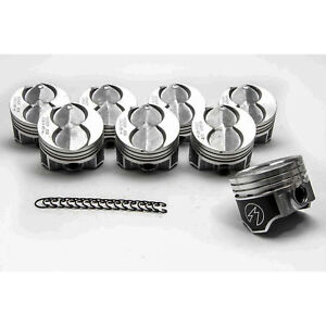 Ford 351w 5 8 Speed Pro Hypereutectic Coated Skirt Flat Top Pistons Set 8 030
