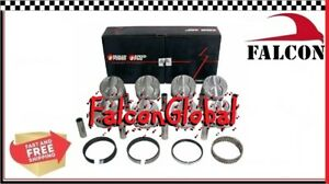 Ford 351w 5 8l Speed Pro Hypereutectic Coated Flat Top Pistons Moly Rings 30