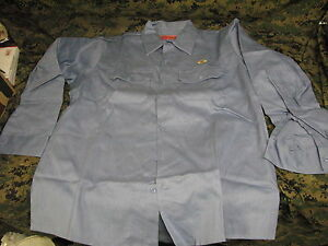 Welding Shirt Flame Retardant 100 Cotton Fire Resistant Fr Usa New Large Long