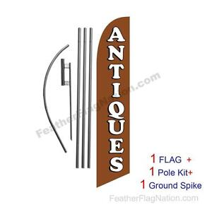 Antiques Feather Banner Swooper Flag Kit With Pole spike