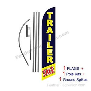 Trailer Sale 15 Feather Banner Swooper Flag Kit With Pole spike