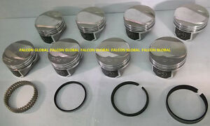 Speed Pro trw Chevy 454 Ls6 30cc Dome Coated Forged Pistons moly Rings Kit 060