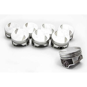 Speed Pro Trw Chevy 454 7 4 Forged Flat Top 2vr Coated Skirt Pistons Set 8 030