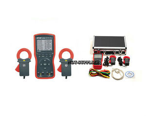 New Etcr4200a Intelligent Double Clamp Digital Phase Volt ampere Meter 40mm