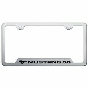 Ford Mustang 5 Brushed Chrome Stainless Steel License Plate Frame