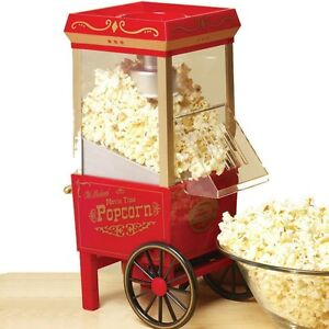 10 Cup Hot Air Countertop Popcorn Machine Home Retro Electric Pop Corn Maker