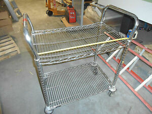 Utility Metro Carts audio video mail parts microwave bakery used