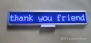Led Moving Scrolling Message Display Sign Board 21 x4 Indoor Programmable Blue