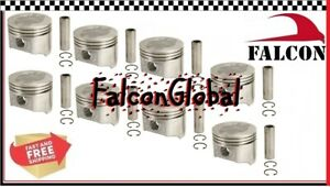 Ford Mercury 428 Fe Sealed Power Cast Pistons Set 8 1966 1970 Standard