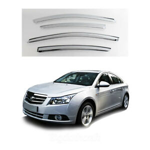 New Chrome Window Vent Visors Rain Guards For Chevrolet Cruze 4door 2011 2012