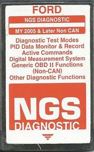 Ford Ngs Diagnostic 2005 Later Non Can orange Card